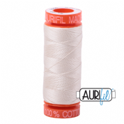 Aurifil 50 Cotton Thread - 2000 (Light Sand)